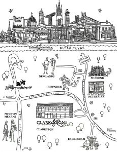 clark & sons bw map wee