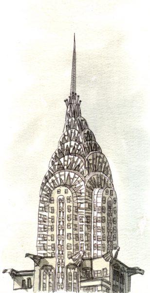 chrysler building monochrome