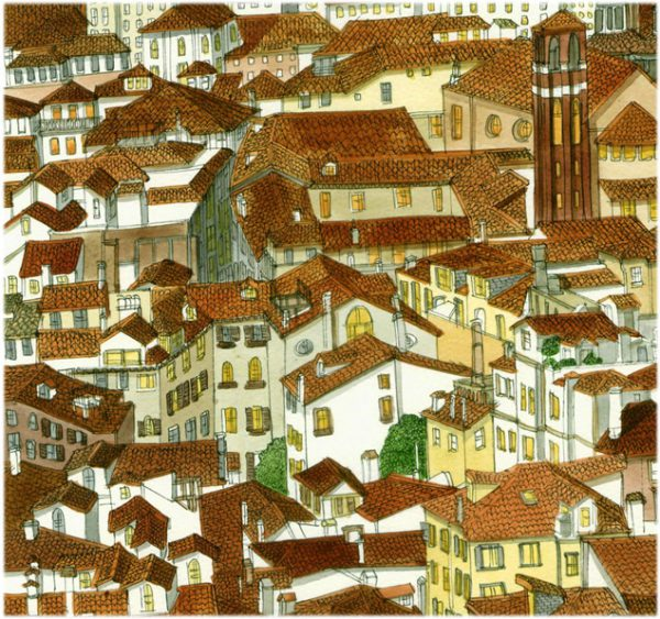 giclee venice rooftops