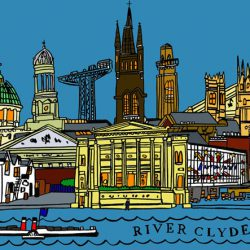 glasgow skyline colour wee