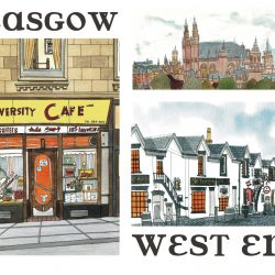 glasgow west end COLOUR wee