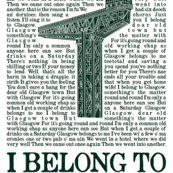 i belong to glasgow crane green