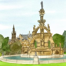 kelvingrove fountain wee