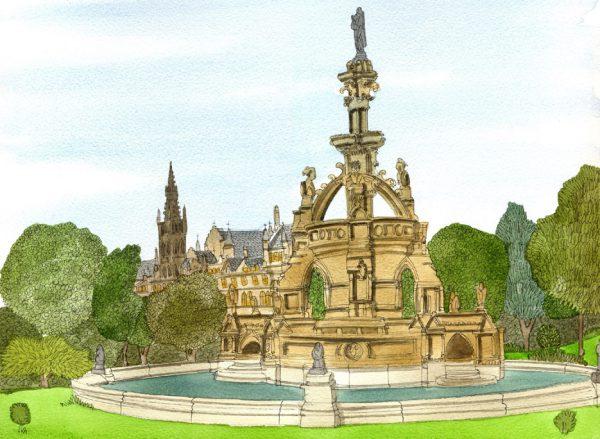 kelvingrove fountain wee