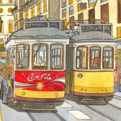 lisbon tram 4 wee