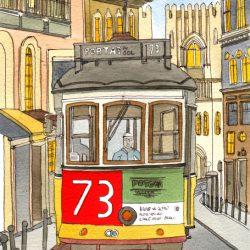 lisbon tram  5 wee