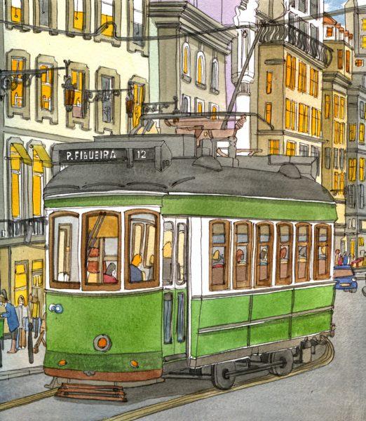 lisbon tram  6