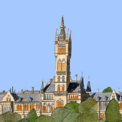 panoramic Glasgow uni wee