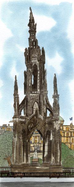 scott's monument print wee