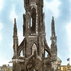 scott's monument print wee