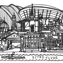 Glasgow Skyline Modern web