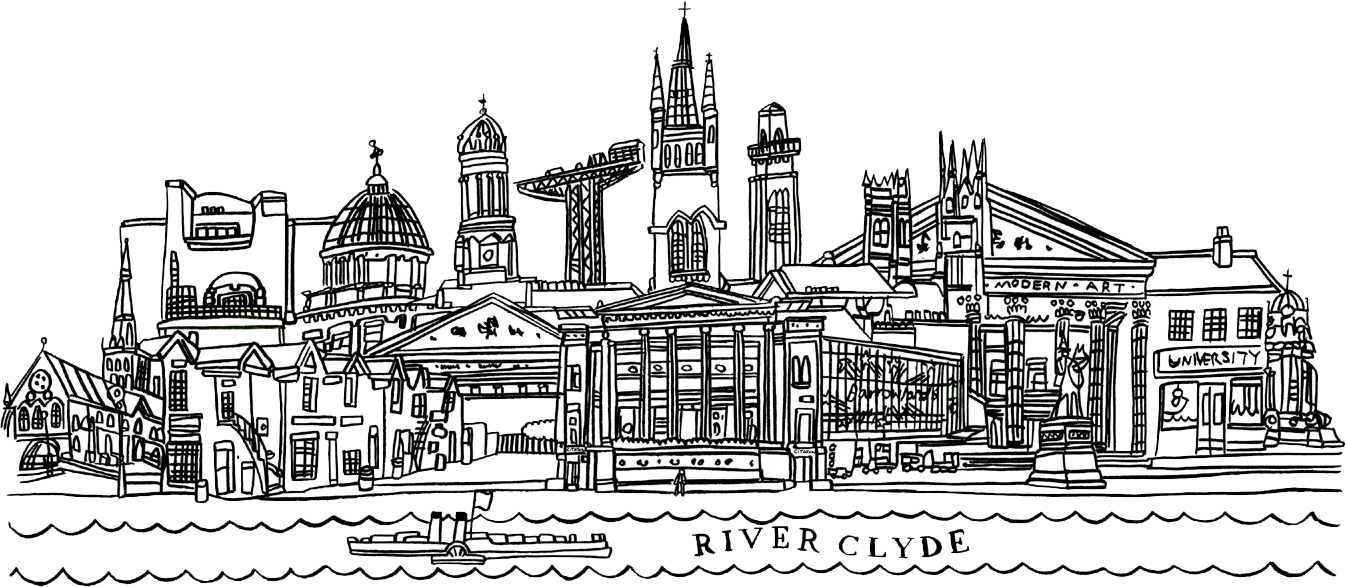 Glasgow Skyline by Adrian McMurchie