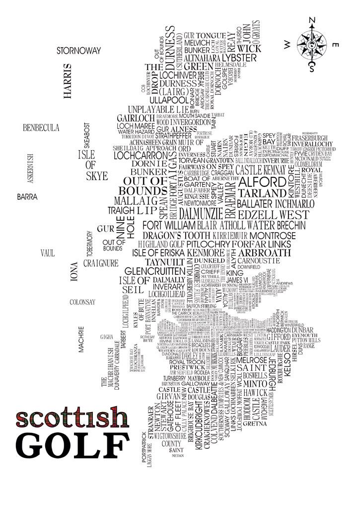 Scottish Golf Word Map on gleneagles scotland map, golf in england map, airports in scotland map, scottish golf map, distilleries in scotland map, uk golf map, golf courses in london, beaches in scotland map, golf resort map, lakes in scotland map, st andrews golf course map, castles in scotland map,